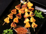 Grilled Pineapple Skewers with Chili-Honey Drizzle