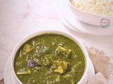 Paneer Curry using Cauliflower Leaves