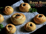 Rose Buns with Stuffed Mushroom | Rose Bread with Stuffed Mushroom | Rose Shaped Dinner Rolls with Stuffed Mushroom