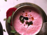 Spiced Beetroot Buttermilk with Roasted flavor | Bhune Chukandar Masala Chaas