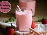 Strawberry Smoothie - 3 Ingredients Smoothie