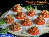 Tomato Canapes | Tomato Chaat
