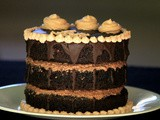 Triple Layer Eggless Chocolate Naked Cake - Fourth wedding anniversary celebration