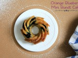 Vegan Orange Blueberry Mini Bundt Cake