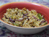 Egg Fried Rice with Brown Rice | Healthy Version of Fried Rice