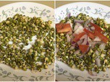Moong Sprouts Chat | Chat Recipe using Green Gram Sprouts