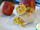 Nectarine Cream Cheese Burritos