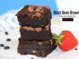 Black Bean Brownie | Flourless Gluten Free Butterless | FlavourDiary