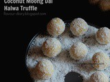 Coconut Moong Dal Halwa Truffle/Ladoo Gluten and Dairy Free