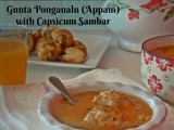 Gunta Ponganalu Appam with Capsicum Sambar Recipe | Indian Breakfast | Flavour Diary