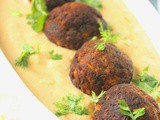 No Onion No Garlic Non Fried Malai Kofta with a Peach Coloured Creamy Gravy
