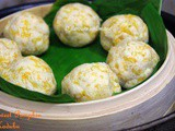 Sweet Pumpkin Kadubu / Steamed Sweet Pumpkin Rice Cakes/ Kaddu ki Idli