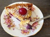 Bourdaloue-inspired tart with cherries and blackcurrants