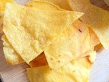 Healthy homemade corn chips