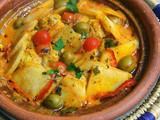 Light Moroccan fishballs tagine with vegetables