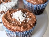 Luscious German chocolate cupcakes