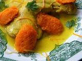 Moroccan Mqualli of chicken with confit of carrots and orange juice