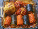 Moroccan stuffed vegetables/Dolma with rice