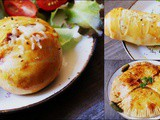 Savoury brioches and rolls with chicken and vegetable filling...and a pie too