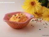 Eggless Mango Ice Cream Recipe  ( No Ice cream Maker )