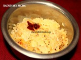 Radish  Stir Fry Recipe / Mulangi Poriyal