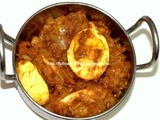 Spicy Egg Masala / Muttai Thokku