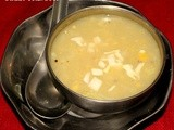 Sweet Corn Vegetable Soup / Indo Chinese SweetCorn Soup