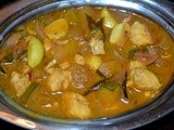 Fish garlic curry/meen poondu  vathal kuzhambu