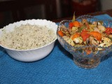 Herb rice with oven roasted vegetables
