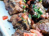 Grilled Lamb Chops with Tomato, Mint, and Garlic Sauce
