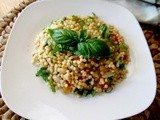 Israeli Couscous, with Cannelini Beans