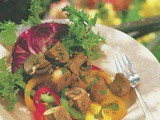 Marinated Tri-Color Bell Pepper and Mushroom Salad