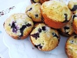 Sour Cream-Blueberry Muffins
