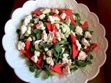 Watermelon and Feta Salad and Giveaway Winnings