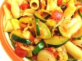 Ziti with fresh Tomatoes, and Zucchini