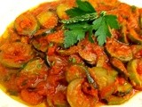 Zucchini in Tomato Sauce...and Restaurant Review