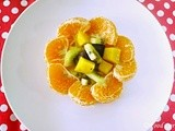 Fruit Salad with Kiwi Mango and Orange
