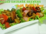 Grilled Sausage Skewers with bbq Sauce