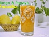 Papaya and Mango Smoothie