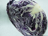 Purple Cabbage Salad & Garnishing it with Halloween theme