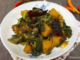 Sri Lankan Style Pumpkin and Spinach Stir-Fry