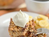 Banana Chocolate Chip Baked Oatmeal
