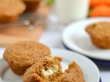 Carrot Cake Cream Cheese Surprise Muffins