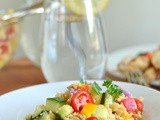 Quinoa Chickpea Greek Salad