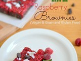 Raw Raspberry Brownies(Grain and Gluten Free and Vegan)