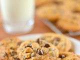 Thick and Chewy 100% Whole Wheat Chocolate Chip Cookies