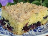 Blueberry Streusel Cake for an Artists' Reception