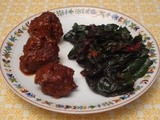 Chopped  Challenge - Meatballs in Mole Sauce with Swiss Chard