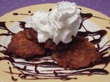 Chopped  Challenge - Mini Carrot Latkes with Chocolate Rum Caramel Sauce