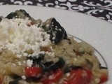 Chopped  Challenge - Red Pepper, Spinach and Feta Risotto